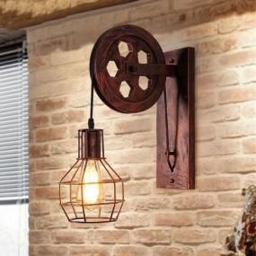 Kinkiet Retro Vintage Loft żelazny stare złoto lampa podnośnik