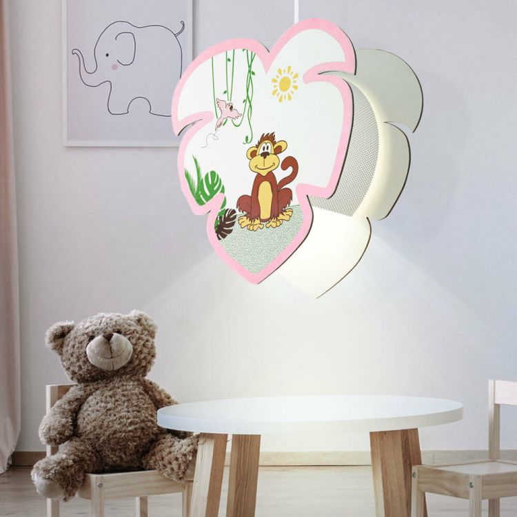 Lampa Sufitowa Szyszka Oświetlenie Dla Dzieci Plafon Do Pokoju Dziecięcego Led Lampa Wisząca Różowa Dziewczynka