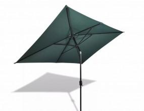 Prostokątny parasol ogrodowy zielony biały 2 x 3 m