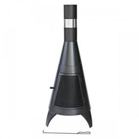 Piec ogrodowy piecyk tarasowy stalowy ogrzewacz grill kominek zewnętrzny komin 120 cm