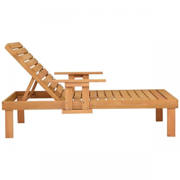 Leżak Stolik Drewniany Leżak Spa Meble Ogrodowe Komplet Relax Podłokietniki Leżanka Sofa łóżko Do Opalania