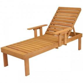 Leżak drewniany leżak spa meble ogrodowe relax podłokietniki leżanka sofa łóżko do opalania regulowany taca