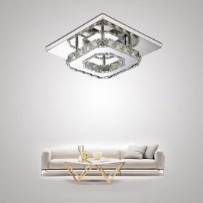 Plafon kinkiet sufitowy żyrandol lampa KRYSZTAŁY CHROM kwadrat 12W