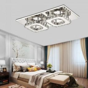 Plafon kinkiet sufitowy żyrandol lampa KRYSZTAŁY CHROM kwadraty 24 W
