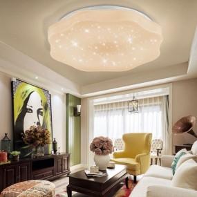 Lampa sufitowa nowoczesna regulacja ściemniania + PILOT plafon salon korytarz sypialnia 48W