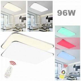 Plafon lampa sufitowa XXL LED RGB 96W + pilot do regulacji ściemniania zmiany kolorów prostokąt