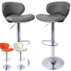 2 x hoker barowy krzesło zestaw hokery skórzane kolory regulacja oparcie fotel