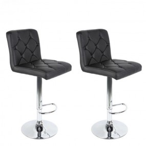 2 x hoker krzesło zestaw hokery skórzane czarne regulacja oparcie