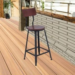 Hoker barowy stołek 2 w 1 styl industrialny vintage drewniany
