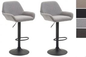 2 x hoker barowy krzesło zestaw hokery tapicerowane kolory regulacja oparcie fotel
