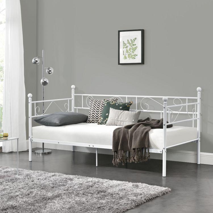 łóżko Metalowe Pojedyncze Do Sypialni Pokoju Dziecięcego