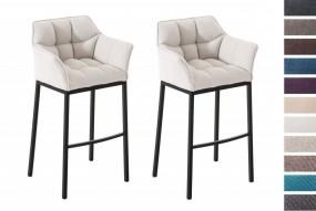 2x wygodny hoker barowy fotel tapicerowany 10 kolorów zestaw