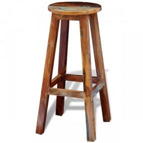 Nowoczesny hoker barowy drewno z odzysku styl industrialny rękodzieło stołek taboret