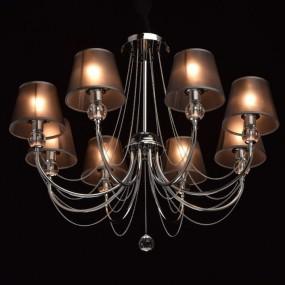 Nowoczesny żyrandol lampa sufitowa wisząca 8 ramienna 40 W styl