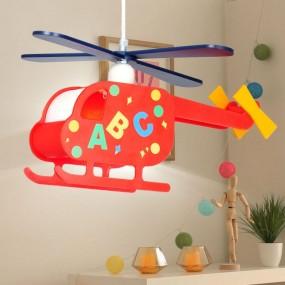 Lampa dziecięca dla dziecka wisząca oświetlenie do pokoju dziecięcego samolot helikopter
