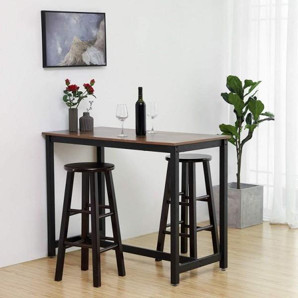 Stół barowy stolik do hokerów drewniany barek do jadalni baru kawiarni stołówki styl industrialny