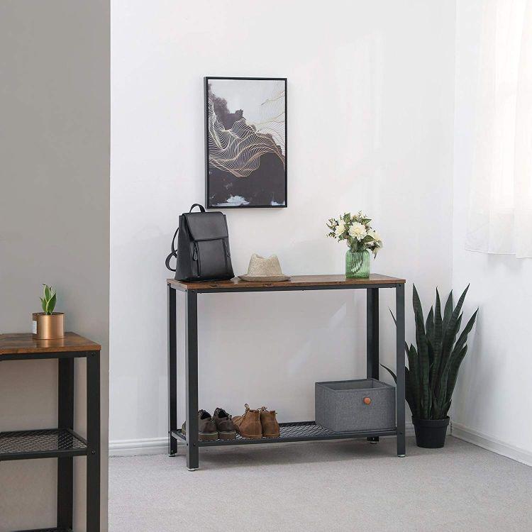 Stół Stolik ława Konsola Witryna Styl Industrialny Vintage Salon Przedpokój Drewno Metal