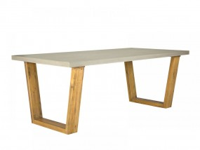 Stół do jadalni beton drewno 160cm stolik ława gruby betonowy blat sosna szary