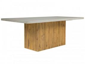 Stół do jadalni beton drewno 200cm stolik ława gruby betonowy blat sosna szary