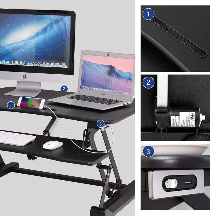 Stolik Pod Laptopa Xl Biurko Podstawa Do Monitora Dostawka Czarny
