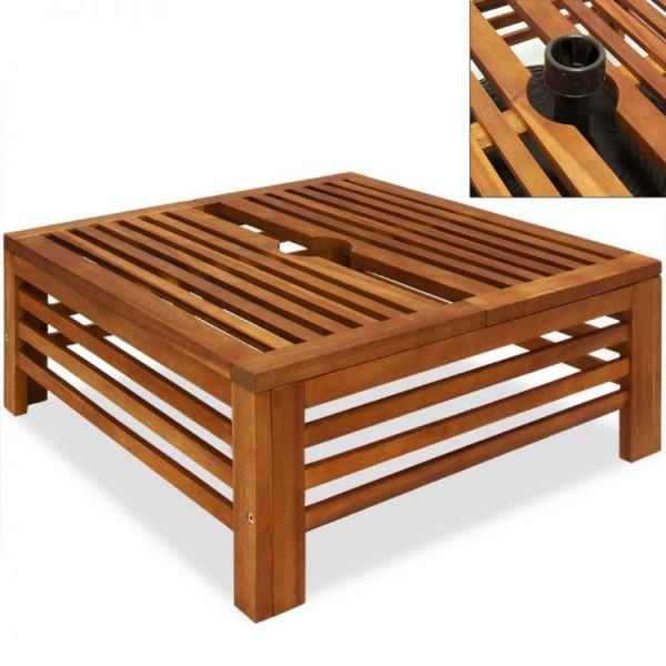 Drewniany stojak pod parasol stolik boczny podstawa balkon ogród taras stojak na parasole meble ogrodowe drewno akacjowe