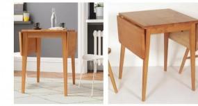 Rozkładany stół do jadalni składany drewniany kwadratowy