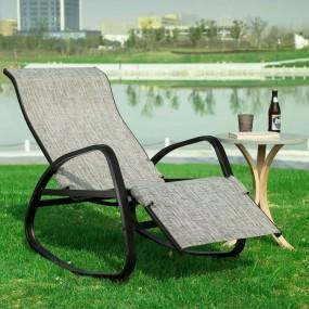 Fotel ogrodowy regulacja oparcia krzesło ogrodowe z regulacją relaks do ogrodu na taras