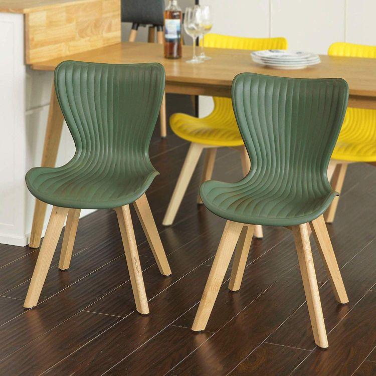 Zestaw 2 X Nowoczesne Krzesło Fotel Do Kuchni Jadalni Do