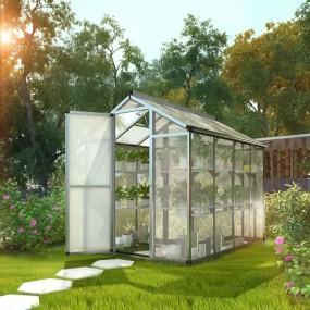 Szklarnia poliwęglanowa namiot tunel ogrodowy uprawa ogród 310x190x195 cm