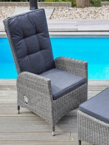 Nowoczesny fotel rattanowy krzesło rozkładane regulacja oparcia  rattan relaks ogród taras balkon