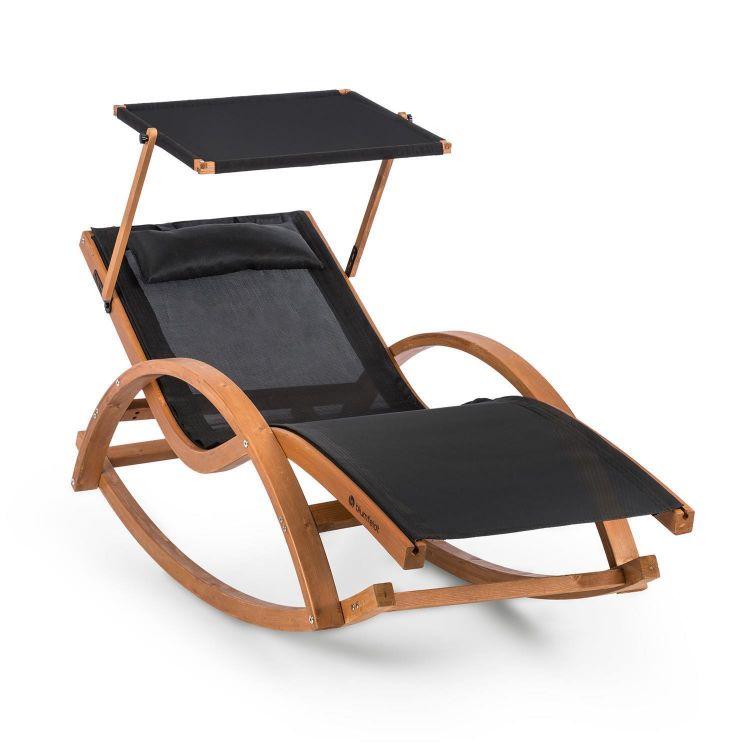 Leżak Ogrodowy Bujany Elegancki Funkcja Relax Fotel Na