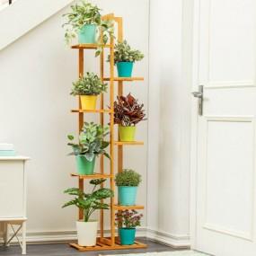 Kwietnik Ogrodowy regał na kwiaty duży drewniany na balkon taras półki