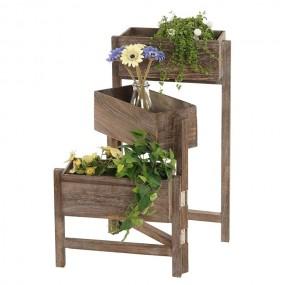 Kwietnik drewniany stojak na kwiaty regał donica doniczka