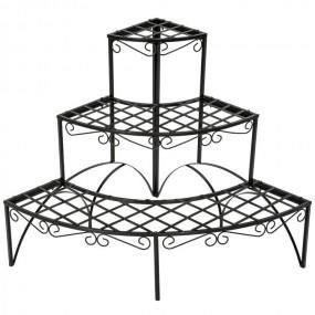 Narożny KWIETNIK metalowy stojak na kwiaty regał półokrągły