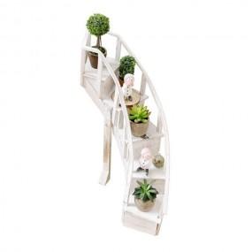 Kwietnik drewniany stojak na kwiaty regał półki