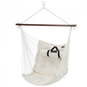 Hamak ogrodowy krzesło wiszące do 200 kg z poduszką