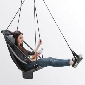 Hamak ogrodowy krzesło wiszące z podnóżkiem do 160 kg huśtawka wisząca ogrodowa z poduszką