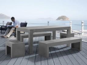 Zestaw mebli ogrodowych betonowych Beton Stoł 2 ławki z betonu