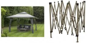 Altana ogrodowa pawilon składany namiot imprezowy  4x4 m zadaszenie