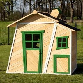 Drewniany domek dla dzieci bajkowy plac zabaw