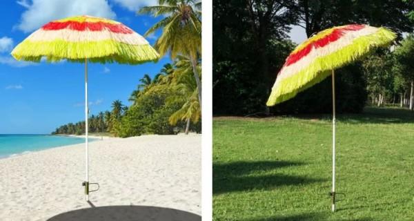 Parasol plażowy ogrodowy hawajski azjatycki 180 cm kolorowy