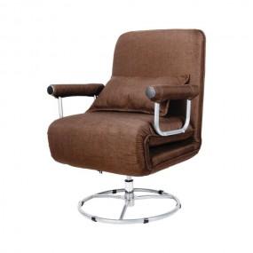 Fotel z funkcją spania obrotowy rozkładany regulowany leżanka krzesło do spania