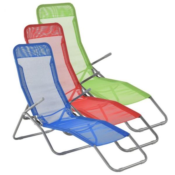 Leżak plażowy ogrodowy składany 3 kolory relax