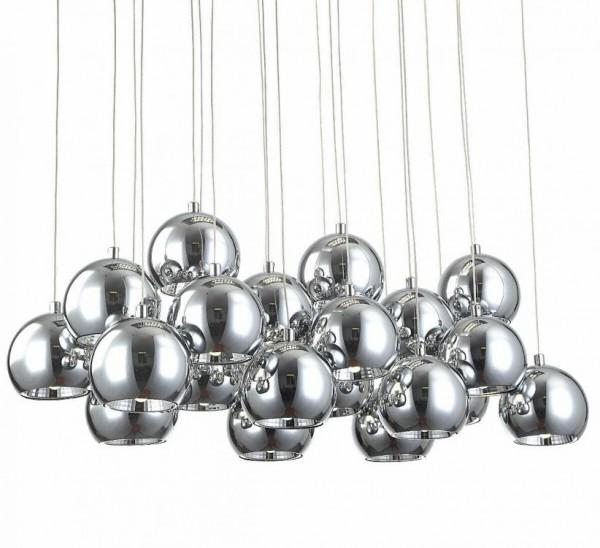 Lampa sufitowa LED lampa wisząca żyrandol srebrne kule