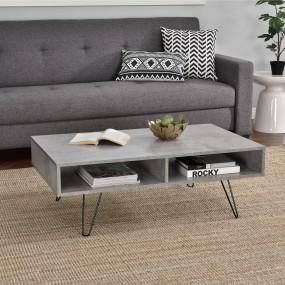 Nowoczesny stolik kawowy ława pokojowa beton metal 100 cm