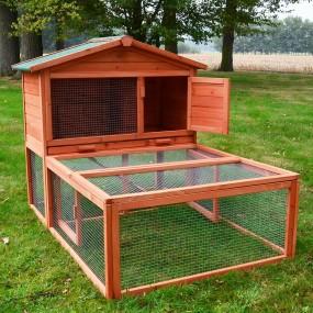 Kurnik klatka dla kur królików z dużym wybiegiem oraz rampą