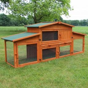 Kurnik klatka dla kur królików klatka dla zwierząt z rampą i wybiegiem