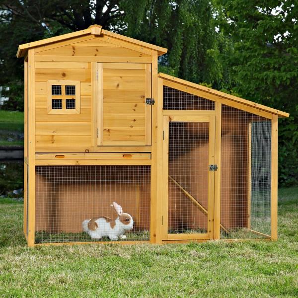 Domek dla zwierząt drewniana klatka dla królików małych gryzoni kurnik