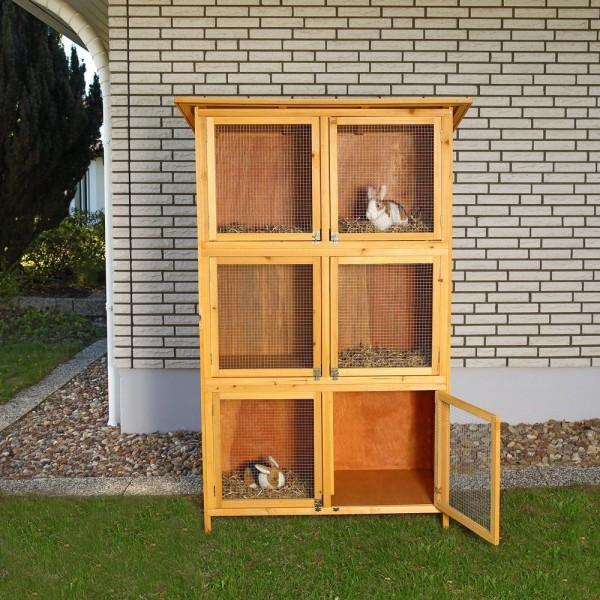 Drewniana klatka domek dla królików małych gryzoni