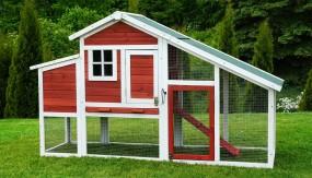 Drewniana klatka dla kur królików klatka dla zwierząt domek kurnik XXL voliera